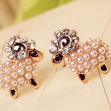 Γυναικεία Κουμπωτά Σκουλαρίκια χαριτωμένο στυλ Μαργαριτάρι Απομίμηση Μαργαριταριού Στρας Προσομειωμένο διαμάντι Κράμα Κοσμήματα Κοστούμια