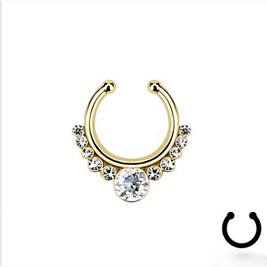 Crystal Nose Ring / Nose Stud / Nose Piercing / Nose Piercing - Imitation Diamond Unique Design, Fashion Women's Silver / Golden Body Jewelry For Casual / Rhinestone