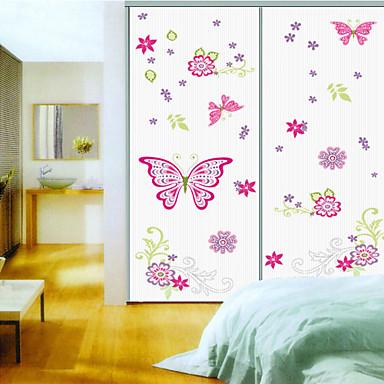 Stickers muraux Stickers muraux, style papillon rose muraux PVC autocollants