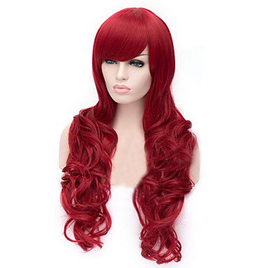 Synthetic Hair Wigs Body Wave With Bangs Capless Cosplay Wig