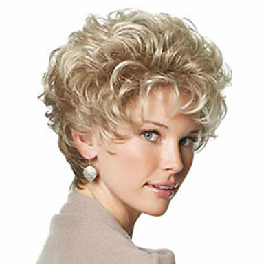 Synthetic Wig With Bangs Synthetic Hair With Bangs Blonde Wig Women's Short Black Wig / Natural Wigs Daily
