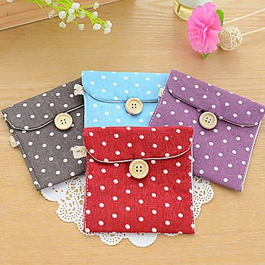 χαριτωμένο υγιεινής τσάντα πετσέτα θήκη πορτοφόλι κάτοχος pad τσάντες των γυναικών διοργανωτής κορίτσι (τυχαία χρώμα)