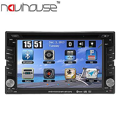6.2-tommer 2 DIN TFT skærm in-dash bil dvd-afspiller med navigation-ready gps, rds, bluetooth, tv, iPod-indgang