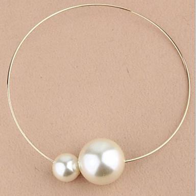 Women's Circle Shape Fashion Choker Necklace Pendant Necklace Pearl Necklace Vintage Necklace Pearl Imitation Diamond Alloy Choker