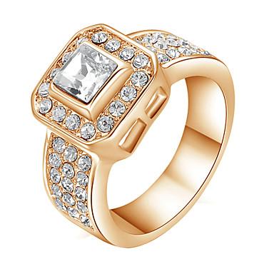Массивные кольца Кристалл Имитация Алмазный Сплав Бижутерия Свадьба Для вечеринок Повседневные 1шт