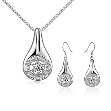 Women's Jewelry Set - Silver Plated Drop Fashion Include Drop Earrings / Necklace Silver For Party / Daily / Casual