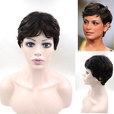 #1B 6inch Brazilian Human Hair Highlight Short Bob Wig for Black Women In Stock