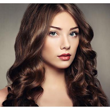 γυναίκες Lace μπροστά περούκα ~ 10inch 24inch Ινδία χρώμα των μαλλιών (μαύρο καφέ # 1 # 1b # 2 # 4) μαλλιά κύμα σωμάτων