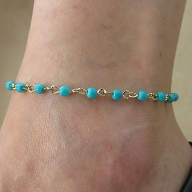 mode bracelets de cheville de fibres acryliques pures