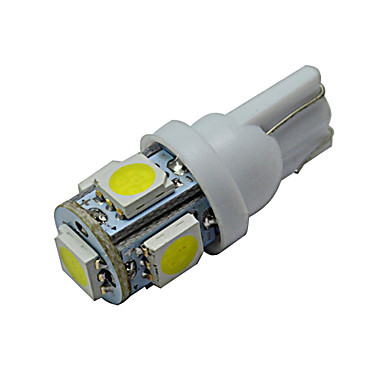 T10 Decoration Light 5 SMD 5050 70-90lm Cold White 6000-6500K DC 12V