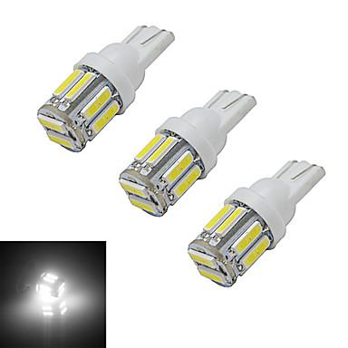 3pcs 3 W 210 lm 10 LED perler SMD 7020 Kjølig hvit 12 V / 3 stk.