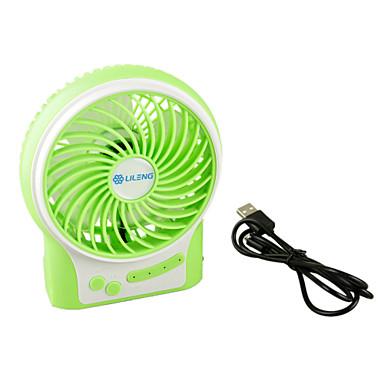 Yeşil renk taşınabilir çok fonksiyonlu 18650 pil fan usb şarj
