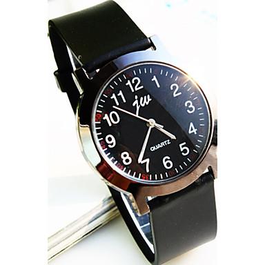 просто круглый циферблат пластиковой лентой Изысканная мода кварцевые часы супругов