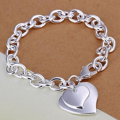 Damen Bettelarmbänder - versilbert Herz, Liebe Inspirationen Armbänder Silber Für Weihnachts Geschenke / Hochzeit / Party
