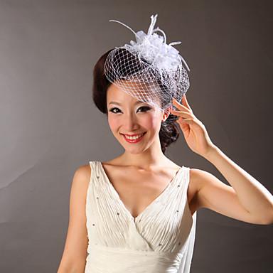 Tulle Feather Fascinators Flowers Headpiece Classical Feminine Style
