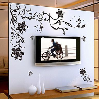 Blumen Cartoon Design Wand-Sticker Flugzeug-Wand Sticker Dekorative Wand Sticker, Vinyl Haus Dekoration Wandtattoo Wand