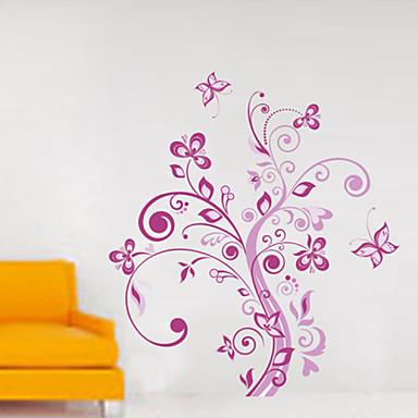 stickers muraux autocollants de mur, fleurs muraux PVC autocollants