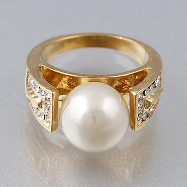 Dame Statement Ring - Kubisk Zirkonium, Fuskediamant Luksus, Europeisk, Mote En størrelse Skjermfarge Til Bryllup / Fest