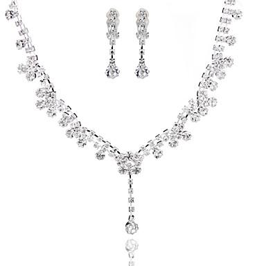 Dames Bergkristal Bruiloft Speciale gelegenheden  Verjaardag Verloving Legering Oorbellen Kettingen