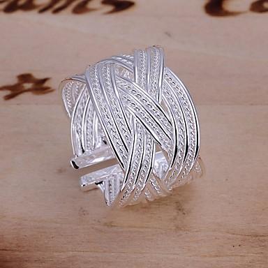 billige Motering-Dame Statement Ring tommelfingerring Sølv Sølvplett damer Uvanlig Unikt design Bryllup Fest Smykker