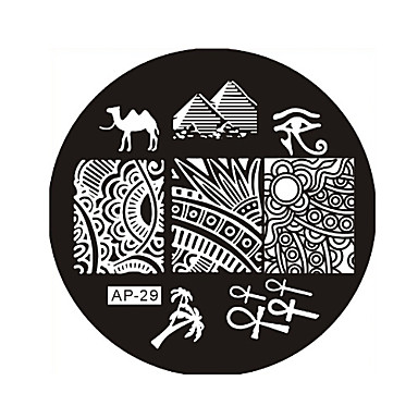 Nail Art Stamp Stamping Image Template Plate AP Series NO.29
