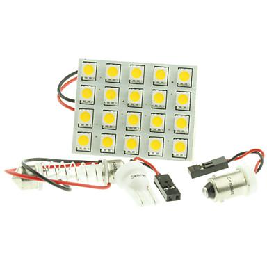 T10 Αυτοκίνητο Λάμπες 4W SMD 5050 200-240lm 20 LED Φως Φλας For Universal
