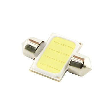 31mm 3W COB LED 200lm 6000K Cold White Light Dome Festoon Reading Bulb Lamp for Car (DC 12V)