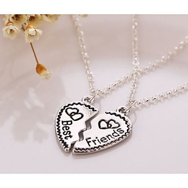 Alloy Necklace Pendant Necklaces Party/Sports 2pc