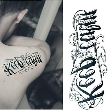Tatuointitarrat Muut - Paperi - Non Toxic/Alaselkä/Waterproof - Keep Calm - 6*10.5cm (2.36*4.13in) - Musta/Sininen - 1 -