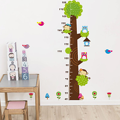 Wall Stickers Wall Decals,Cute Colorful PVC Removable the Cartoon Height Tree Wall Stickers.