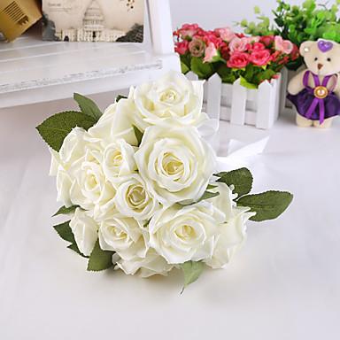Свадебные цветы Круглый Розы Пионы Букеты Свадьба Партия / Вечерняя Атлас Шёлк Около 20 см