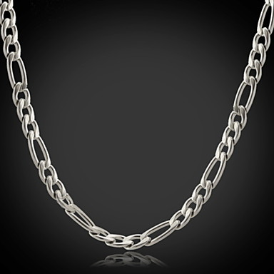 Women's Stainless Steel Chain Necklace - Fashion Silver Necklace For Christmas Gifts Wedding Party Special Occasion Birthday Gift Daily