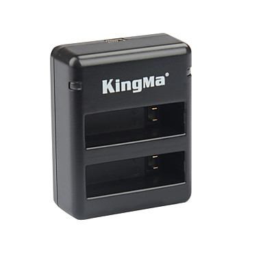 Kingma bm020 dual-usb dual-slot akkumulátortöltő GoPro hero 4 / GOPRO ahdbt-401 - fekete + szürke