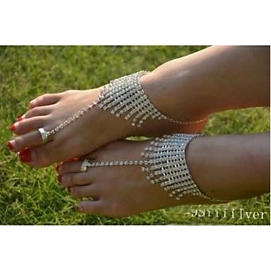 Bracelet de cheville - Cristal, Imitation Diamant Original, Mode Argent Pour Mariage / Soirée / Quotidien / Femme