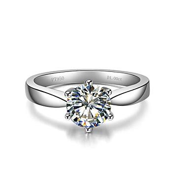 Dame Båndringe Mode Sølv Rhinsten Sekskantet symbol Smykker Bryllup