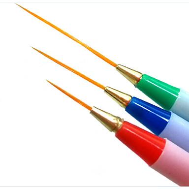 voordelige Nagelgereedschap & Apparatuur-3 stuks Synthetisch haar / Muovi Nail acrylborstel Voor Vingernagel Teennagel Noviteit Nagel kunst Manicure pedicure Klassiek / leuke Style Dagelijks
