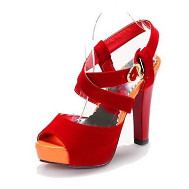 Черный / Синий / Фиолетовый / Красный - Женская обувь - Для офиса / Для праздника / На каждый день - Дерматин - На толстом каблуке -С