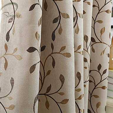 Rod Pocket Grommet Top Tab Top Double Pleat Pencil Pleat One Panel Curtain Modern Designer European Neoclassical Country, Print & Jacquard