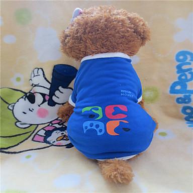 Köpek Tişört Köpek Giyimi Geometrik Mavi Polar Kumaş Kostüm Evcil hayvanlar için