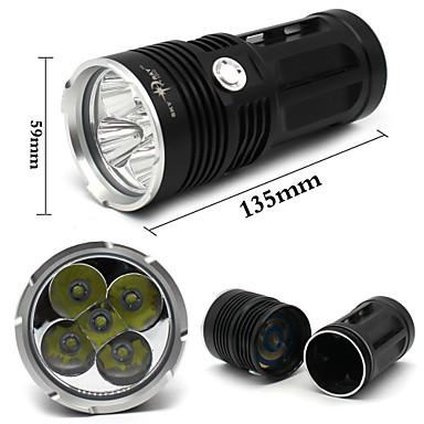 Valaistus LED taskulamput LED 8000 Lumenia 3 Tila Cree XM-L T6 18650 Vedenkestävä / Iskunkestävä / Pienikokoiset / Pimeänäkö / High Power