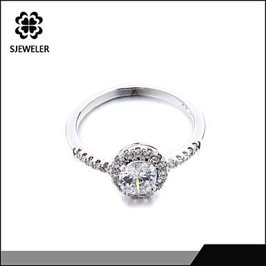 Bagues Affirmées Mode Zircon Platiné Imitation Diamant Bijoux Pour Mariage Soirée 1pc