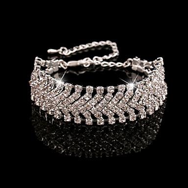 Bransoletki ( Kryształ górski/Biżuteria pozłacana ) - Łańcuszek Vintage/Urocza/Imprezowa/Do biura/Na co dzień