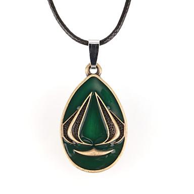 Herrn Anhängerketten - Leder damas Grün Modische Halsketten Schmuck Für Alltag, Normal