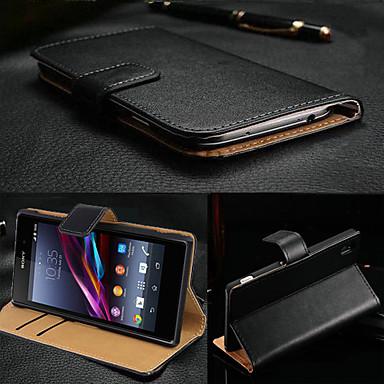 Hülle Für Sony Xperia Z3 Sony Xperia Z3 Sony Hülle Kreditkartenfächer Geldbeutel mit Halterung Flipbare Hülle Ganzkörper-Gehäuse