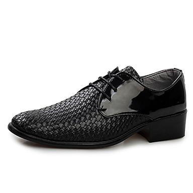 Homme Chaussures Cuir Similicuir Printemps Automne Chaussures formelles Oxfords Lacet pour Décontracté Bureau et carrière Noir Bourgogne