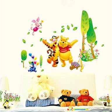 Dyr Botanisk Tegneserie Veggklistremerker Fly vægklistermærker Dekorative Mur Klistermærker Højde klistermærker, PVC Hjem Dekor