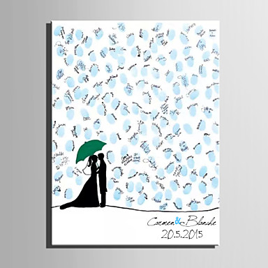 E-HOME® Personalized Fingerprint Painting Canvas Prints - Two People (Includes 12 Ink Colors)