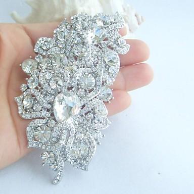 αξεσουάρ γάμου ασήμι-Ήχος σαφές rhinestone crystal νυφικό διακόσμηση λουλουδιών γάμου καρφίτσα καρφίτσα γαμήλια νυφική ανθοδέσμη