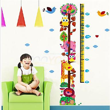 διάγραμμα ανάπτυξης καμηλοπάρδαλη αυτοκόλλητα τοίχου για τα παιδιά zooyoo6335 Παιδικό δωμάτιο χαλκομανίες ζώων τοίχο κορίτσια τέχνης δώρο