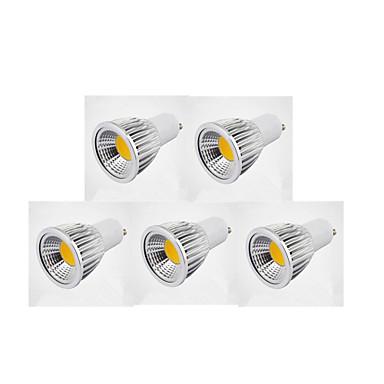 5pcs 7W 300lm GU10 LED Spotlight MR16 1 LED Beads COB Warm White / Cold White / Natural White 85-265V / 220-240V